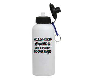 Cancer Sucks in Every Color Water Bottle
