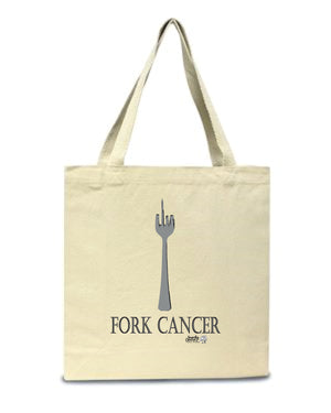 Fork Cancer Canvas Tote