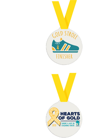 ASCF Hearts of Gold--GOLD STROLL MEDAL ONLY
