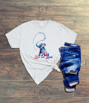 Live Out Loud Watercolor Tee