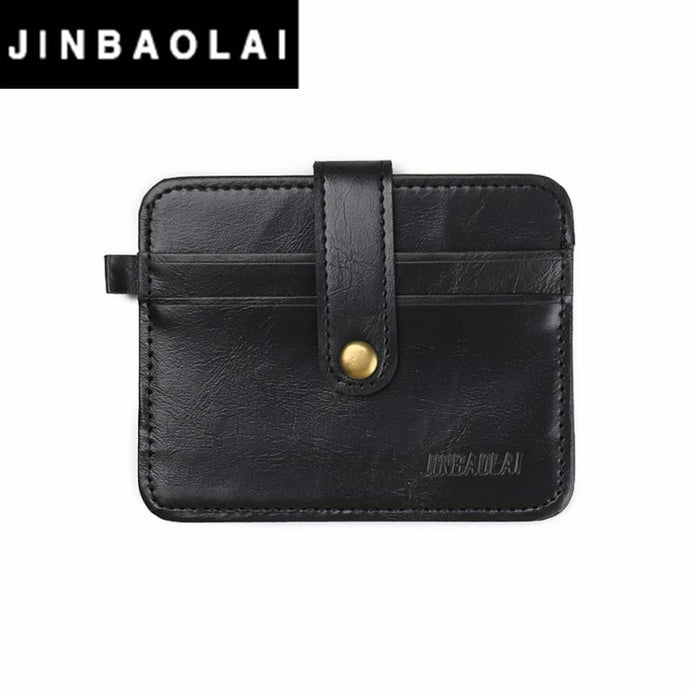 JINBAOLAI Men Leather Credit Card Holder