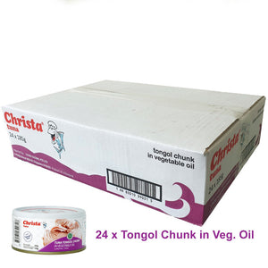 PROMO (BULK PURCHASE) : 24 tins x Christa Tuna Tongol in oil (Longtail Tuna)