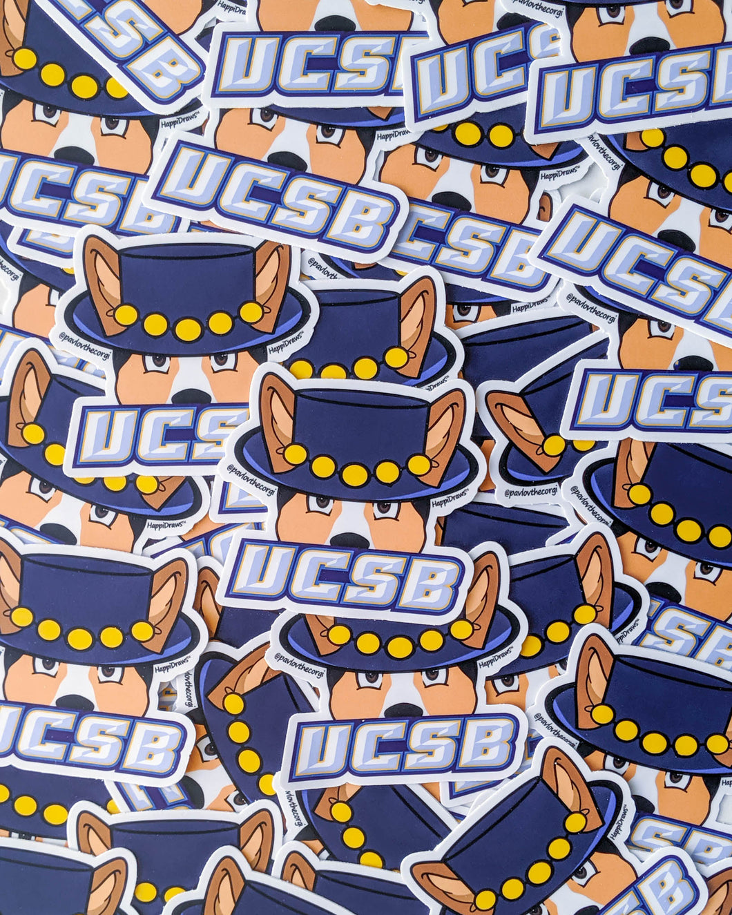 UCSB Corgi Sticker