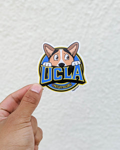 Pavlov UCLA Corgi Sticker