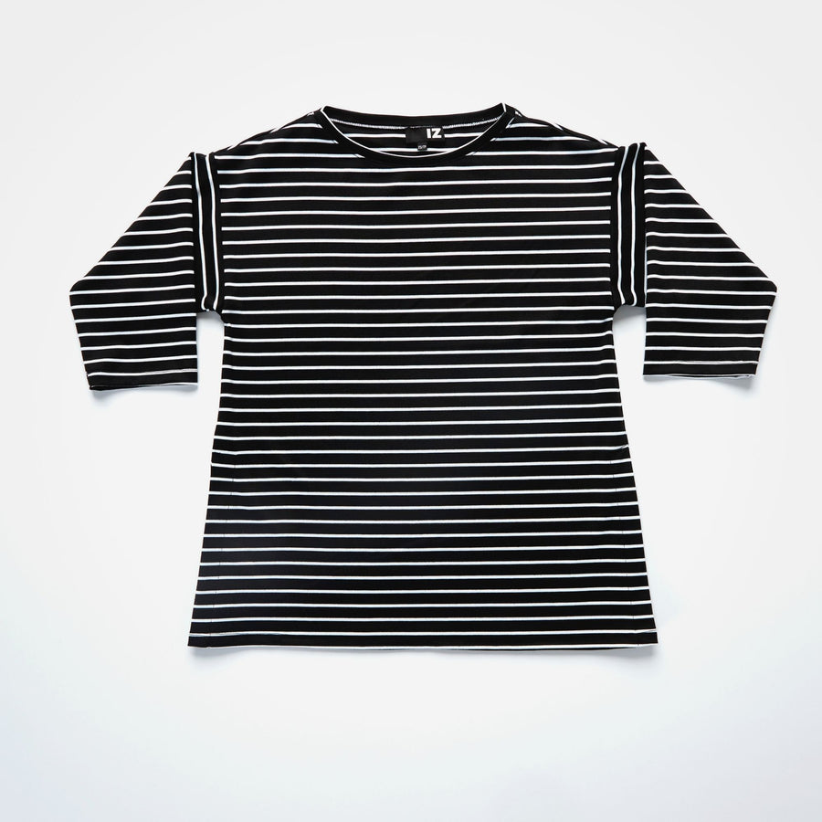 Striped Boat Neck Tee - IZ Adaptive