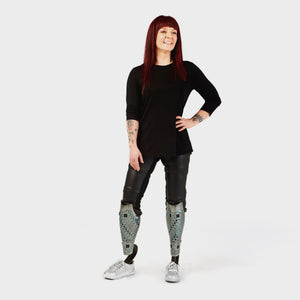 Faux Leather Adaptive Leggings - IZ Adaptive