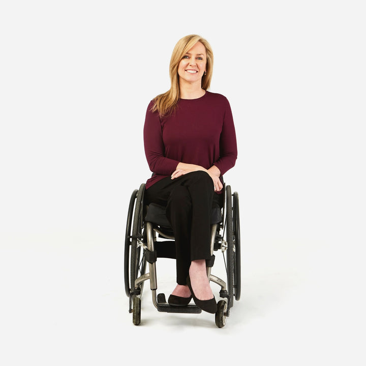 Camilleri Ponte Stretch Pant in a wheelchair cut - IZ Adaptive