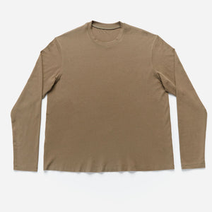 Junction Long Sleeve Crew Neck T-Shirt in Olive - IZ Adaptive