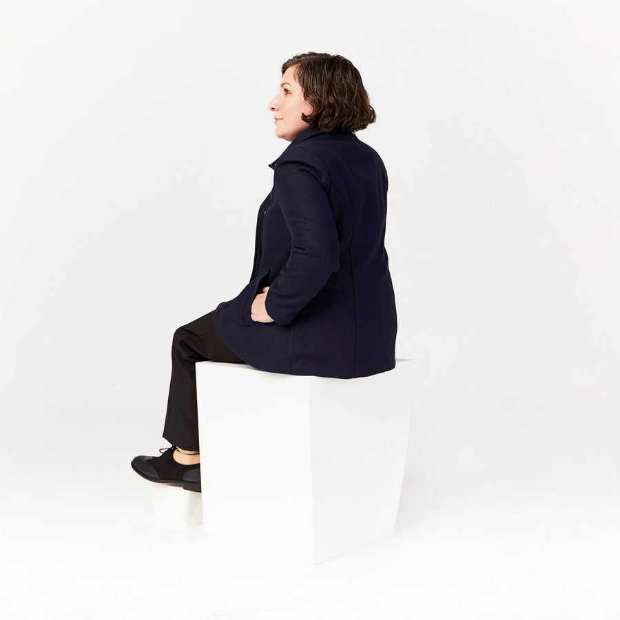 Seated Peacoat Magnetic Closure - IZ Adaptive