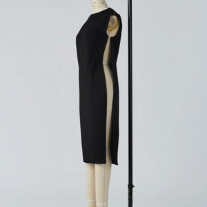 Camilleri Boat Neck Dress with full side opening