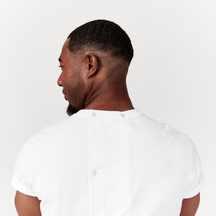 Short Sleeve Open Back Tee