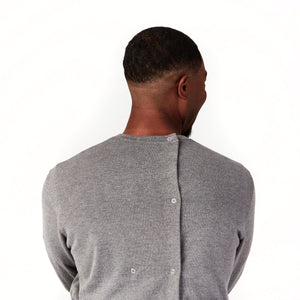 Crew Neck Open Back Sweater in Soft La Perla