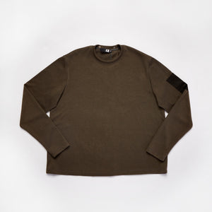 Crew Neck Open Back Sweater