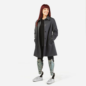 Junction Trench Coat in a Standing Cut with Magnetic Closures