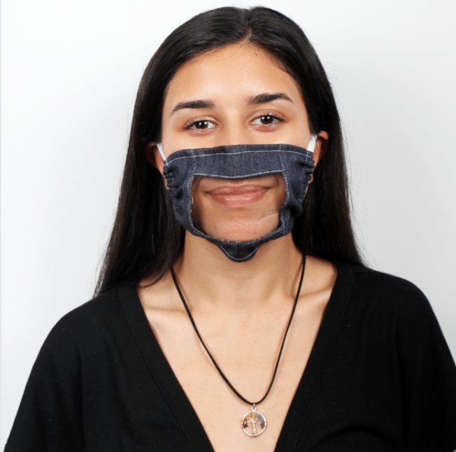 Eco-Friendly Fabric Lip Reader Face Mask - IZ Adaptive