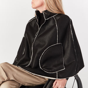 Faux Shearling Cape - IZ Adaptive