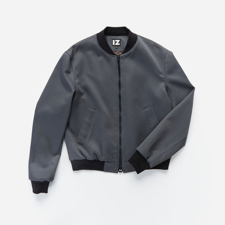 Camilleri Spring Bomber Jacket with Magnetic Zipper Pull - IZ Adaptive