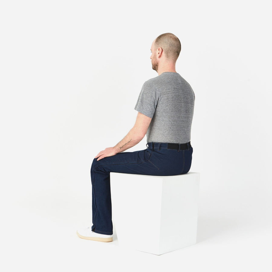 Dundas Side-zip Stretch Jeans in a Wheelchair Cut