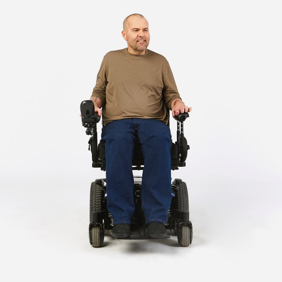 Dundas Wide-leg Stretch Jean in a Wheelchair Cut