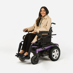 Junction Trenchcoat in a Wheelchair Cut with Magnetic Closures