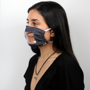 Eco-Friendly Fabric Lip Reader Face Mask 3-Pack