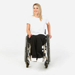 Relaxed Yoga Sweats in a Wheelchair Cut