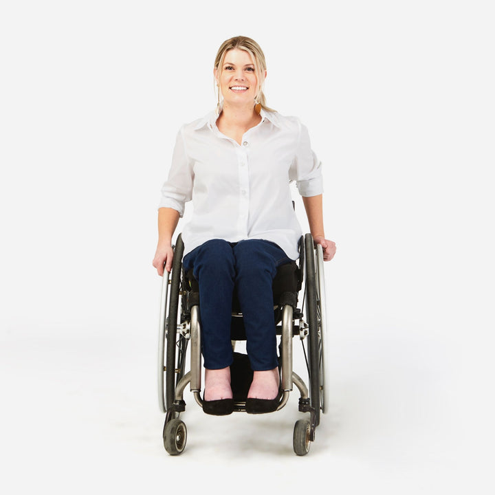 Dundas Slim leg stretch jean in a wheelchair cut - IZ Adaptive