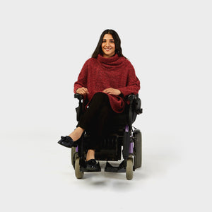 Cowl Neck Boucle Cape - IZ Adaptive