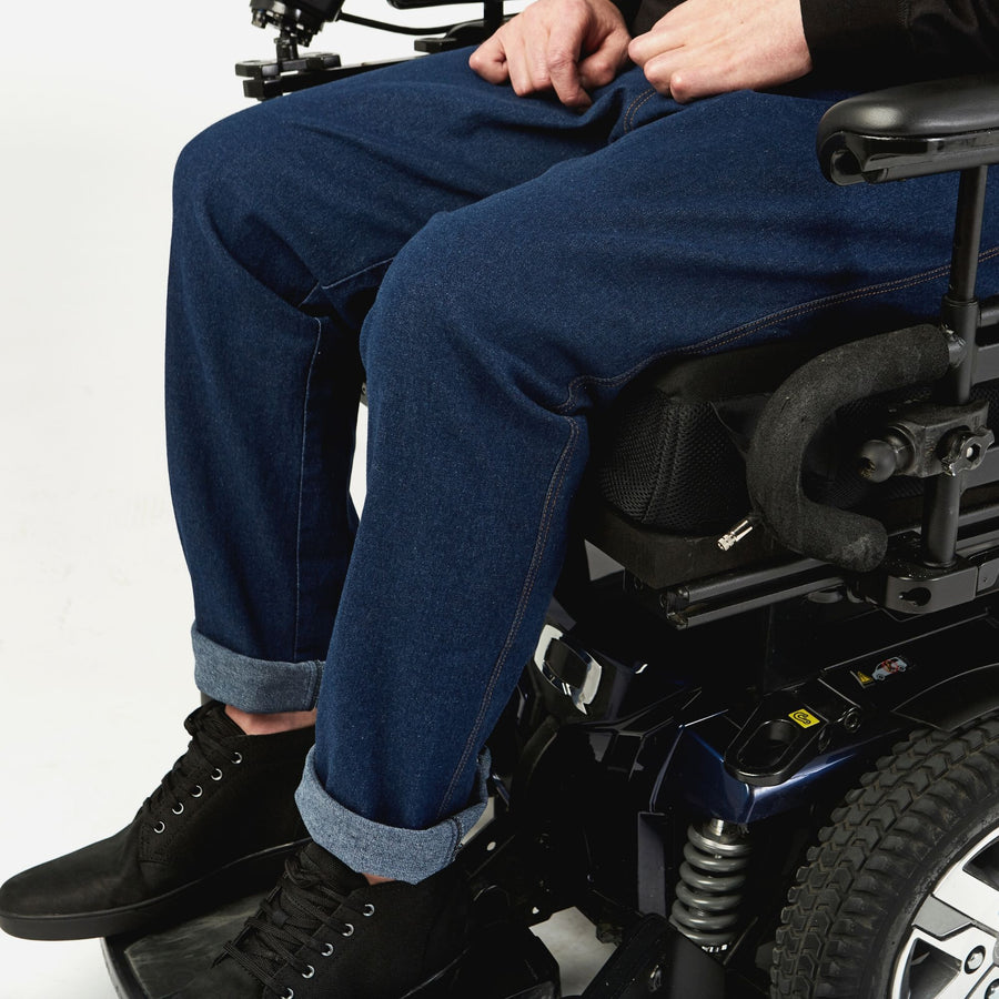 Wrap-waist Stretch Jean in a Wheelchair Cut - IZ Adaptive