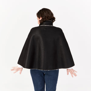Faux Shearling Cape