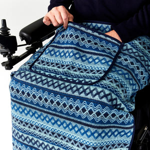 Seated Lap Blanket Argyle Knit