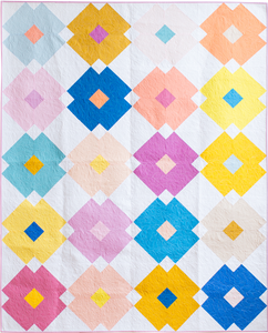 Flower Tile Quilt - The Kona Cotton One