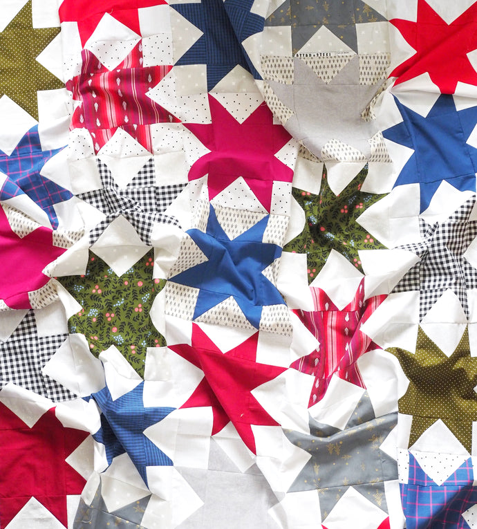 Offset Star Quilt - the Christmas One