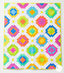 Radiate Quilt - the Phosphor one