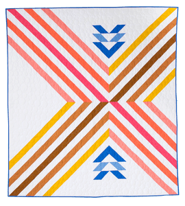 The Stripe Crossing Quilt