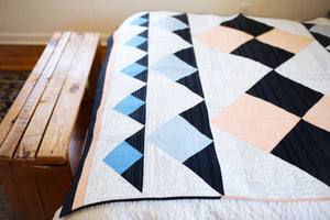 Double Mountain Quilt Pattern - Printed