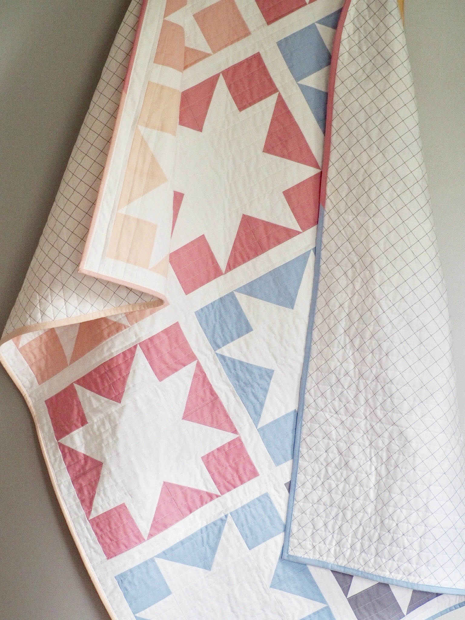fun modern pieced quilt PATTERN in 2 sizes and 2 styles Inside Out