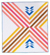 Stripe Crossing Quilt Pattern - Printed