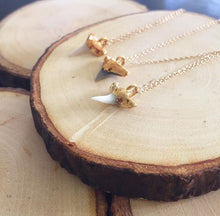 Load image into Gallery viewer, 24k Gold-Dipped Mini Shark Tooth Necklace