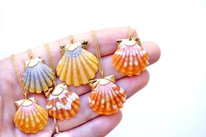 24k Gold-Dipped Hawaiian Sunrise Shell Necklace