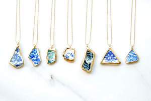 24k Gold Dipped Sea Pottery Necklace