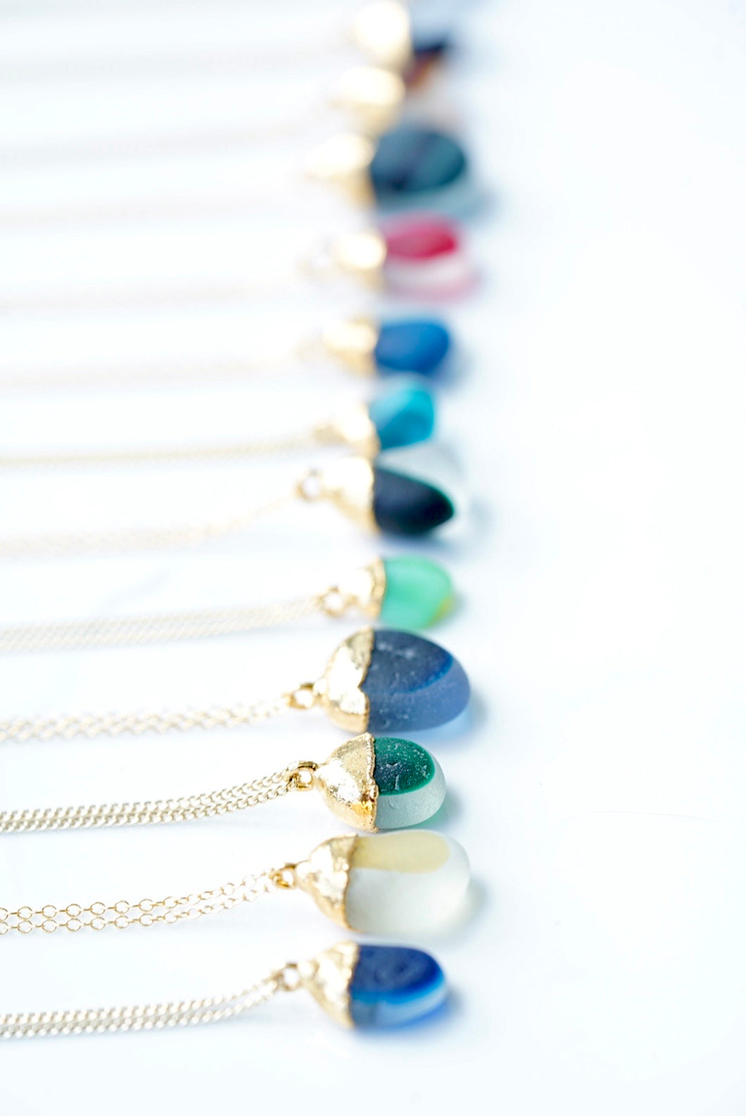 Rise Hawai'i x Seaham Sparkle Sea Glass Necklace