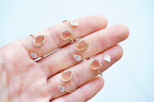 Solid Gold 'Mika' Sea Glass Wrap Ring