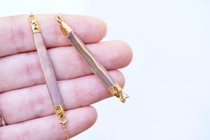 Gold-Dipped Sea Urchin Spine Bar Necklace