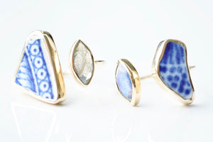 Gold 'Kaikaina' Sea Pottery Ring