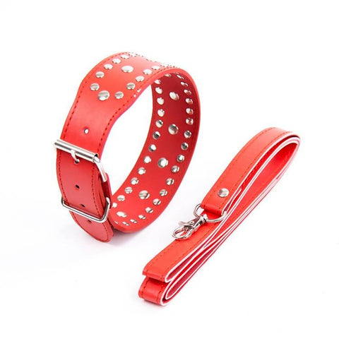 Red and Black Dog Choker