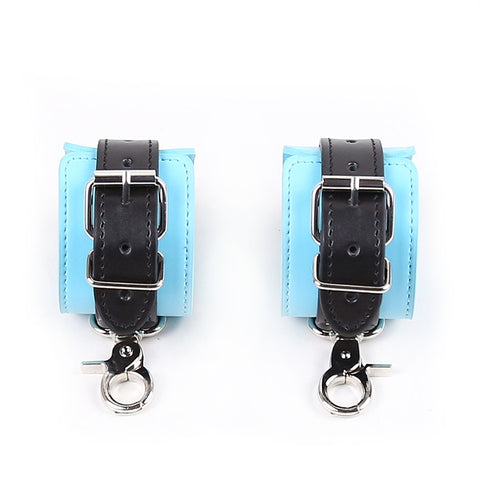 Gum Blue Leather Handcuffs Nomads