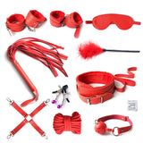 10pc Leather Bondage Set