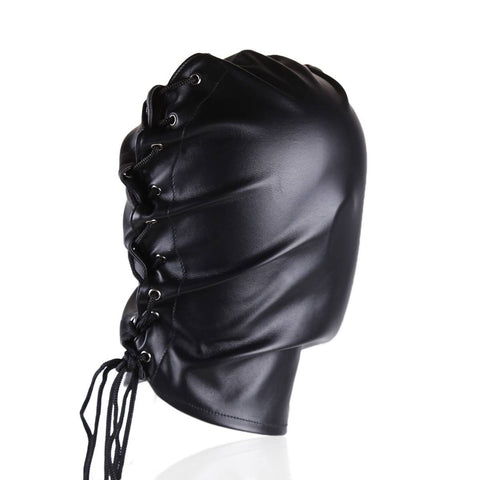 Bondage Leather Face Hood Nomads