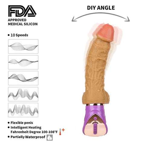 22*3.6cm Swing Vibrating Dildo